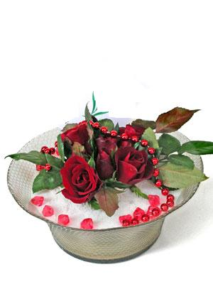 Iğdır Özdemir hediye sevgilime hediye çiçek  EN ÇOK Sevenlere 7 adet kirmizi gül mika yada cam tanzim