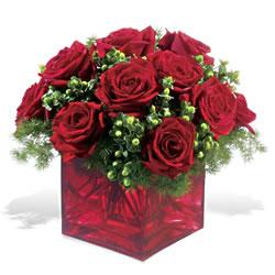 Iğdır 12 eylül çiçekçi mağazası  9 adet kirmizi gül cam yada mika vazoda