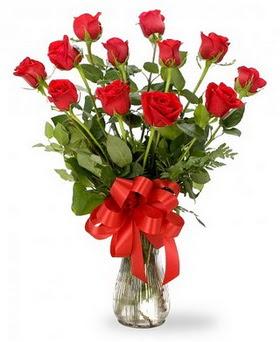 Iğdır Konaklı internetten çiçek siparişi  12 adet kırmızı güllerden vazo tanzimi