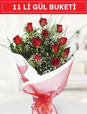 11 adet kırmızı gül buketi Aşk budur  Iğdır 14 kasım hediye çiçek yolla