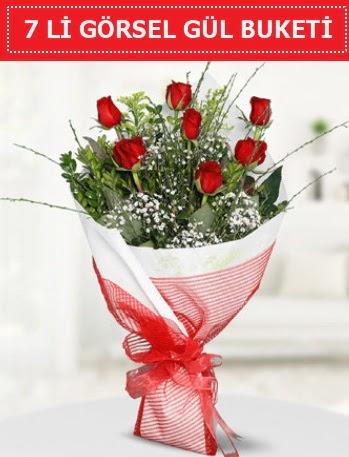 7 adet kırmızı gül buketi Aşk budur  Iğdır 7 kasım çiçekçiler