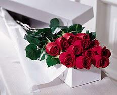 Iğdır 7 kasım çiçekçiler  özel kutuda 12 adet gül