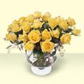 Iğdır Karaağaç internetten çiçek satışı  11 adet sari gül cam yada mika vazo içinde