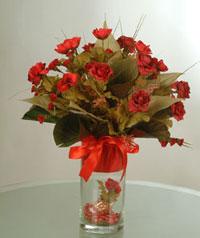 yapay güllerden vazo  9 gül  Iğdır Kasımcan kaliteli taze ve ucuz çiçekler