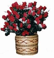 yapay kirmizi güller sepeti   Iğdır Tuzluca çiçek yolla