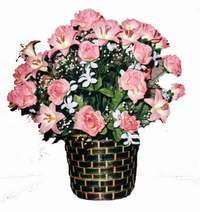 yapay karisik çiçek sepeti  Iğdır çiçekçiler , çiçek yolla , çiçek gönder , çiçekçi