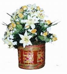 yapay karisik çiçek sepeti   Iğdır Yaycı çiçek mağazası , çiçekçi adresleri