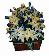 yapay karisik çiçek sepeti   Iğdır Söğütlü çiçek siparişi sitesi