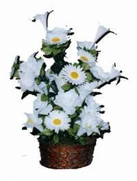 yapay karisik çiçek sepeti  Iğdır Özdemir hediye sevgilime hediye çiçek