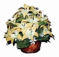 yapay karisik çiçek sepeti   Iğdır Obaköy cicekciler , cicek siparisi
