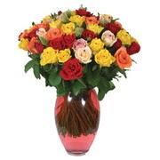 51 adet gül ve kaliteli vazo   Iğdır 14 kasım hediye çiçek yolla