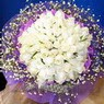 71 adet beyaz gül buketi   Iğdır Konaklı internetten çiçek siparişi