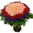 71 adet renkli gül buketi   Iğdır Cumhuriyet çiçek siparişi vermek