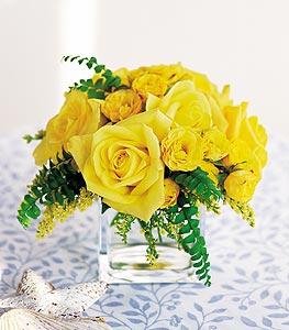 Iğdır Yaycı çiçek mağazası , çiçekçi adresleri  cam içerisinde 12 adet sari gül