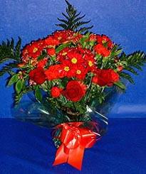 Iğdır Aşağı erhacı online çiçek gönderme sipariş  3 adet kirmizi gül ve kir çiçekleri buketi