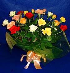 Iğdır Aşağı erhacı online çiçek gönderme sipariş  13 adet karisik renkli güller
