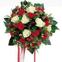 Iğdır Cumhuriyet çiçek siparişi vermek  6 adet kirmizi 6 adet beyaz ve kir çiçekleri buket