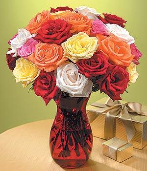 Iğdır çiçek yolla yurtiçi ve yurtdışı çiçek siparişi  13 adet renkli gül