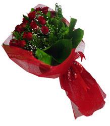 Iğdır 14 kasım hediye çiçek yolla  10 adet kirmizi gül demeti