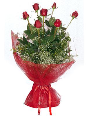 Iğdır Aralık İnternetten çiçek siparişi  7 adet gülden buket görsel sik sadelik