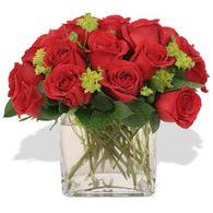Iğdır Karaağaç internetten çiçek satışı  10 adet kirmizi gül ve cam yada mika vazo