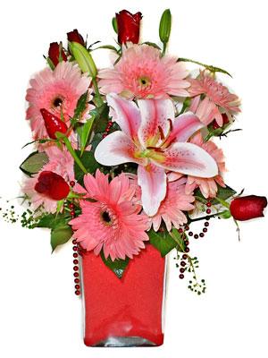 Iğdır Hoşhaber çiçek servisi , çiçekçi adresleri  karisik cam yada mika vazoda mevsim çiçekleri mevsim demeti