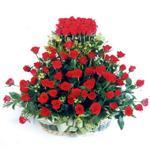 Iğdır Tuzluca çiçek yolla  41 adet kirmizi gülden sepet tanzimi