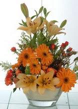 Iğdır Aralık İnternetten çiçek siparişi  cam yada mika vazo içinde karisik mevsim çiçekleri