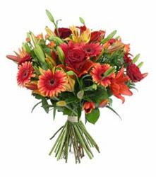 Iğdır Söğütlü çiçek siparişi sitesi  3 adet kirmizi gül ve karisik kir çiçekleri demeti