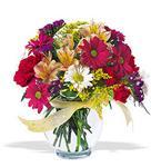 Iğdır Konaklı internetten çiçek siparişi  cam yada mika vazo içerisinde karisik kir çiçekleri