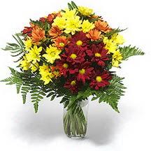 Iğdır Obaköy cicekciler , cicek siparisi  Karisik çiçeklerden mevsim vazosu