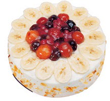 Meyvali 4 ile 6 kisilik yas pasta leziz  Iğdır Cumhuriyet çiçek siparişi vermek