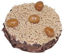 Kestahaneli yas pasta 4 ile 6 kisilik pasta  Iğdır Obaköy cicekciler , cicek siparisi