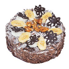Muzlu çikolatali yas pasta 4 ile 6 kisilik   Iğdır Kasımcan kaliteli taze ve ucuz çiçekler