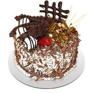 4 ile 6 kisilik çikolatali yas pasta  Iğdır Tuzluca çiçek yolla