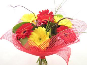 9 adet gerbera çiçeklerinden buket  Iğdır 7 kasım çiçekçiler