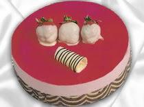 pasta siparisi 4 ile 6 kisilik yas pasta çilekli yaspasta  Iğdır Aralık İnternetten çiçek siparişi