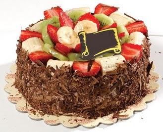 pastaci firmasindan 4 ile 6 kisilik çikolata meyvali yaspasta  Iğdır Obaköy cicekciler , cicek siparisi