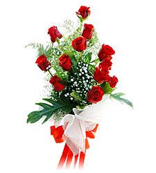 11 adet kirmizi güllerden görsel sölen buket  Iğdır Özdemir hediye sevgilime hediye çiçek