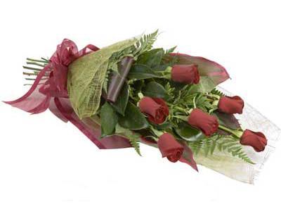 ucuz çiçek siparisi 6 adet kirmizi gül buket  Iğdır Obaköy cicekciler , cicek siparisi