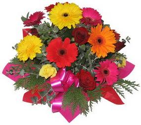 Karisik mevsim çiçeklerinden buket  Iğdır çiçek gönder online çiçekçi , çiçek siparişi