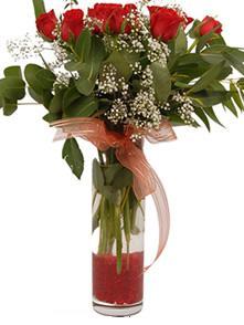 Iğdır Kasımcan kaliteli taze ve ucuz çiçekler  11 adet kirmizi gül vazo çiçegi