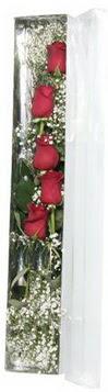 Iğdır Obaköy cicekciler , cicek siparisi   5 adet gülden kutu güller