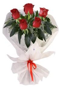 5 adet kirmizi gül buketi  Iğdır Akyumak 14 şubat sevgililer günü çiçek