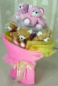 8 adet ayiciktan buket  Iğdır Hoşhaber çiçek servisi , çiçekçi adresleri