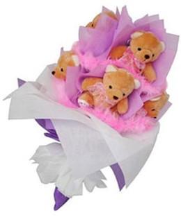 9 adet ayiciktan buket  Iğdır çiçek gönder online çiçekçi , çiçek siparişi