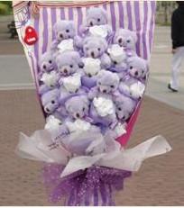 11 adet pelus ayicik buketi  Iğdır 14 kasım hediye çiçek yolla