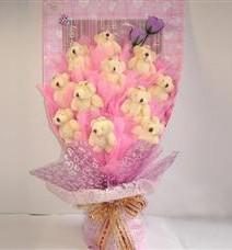 11 adet pelus ayicik buketi  Iğdır 12 eylül çiçekçi mağazası