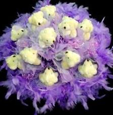11 adet pelus ayicik buketi  Iğdır Konaklı internetten çiçek siparişi
