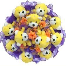 11 adet pelus ayicik buketi  Iğdır karakoyunlu çiçek gönderme sitemiz güvenlidir